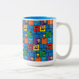 Kawaii Avengers In Colorful Blocks Two-Tone Coffee Mug