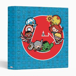 Kawaii Avengers Inside A-Logo 3 Ring Binder