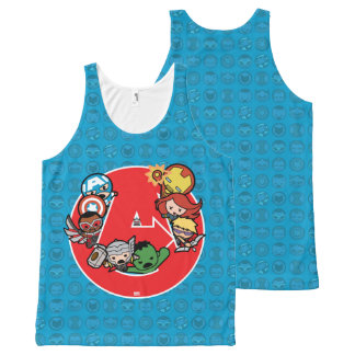 Kawaii Avengers Inside A-Logo All-Over-Print Tank Top