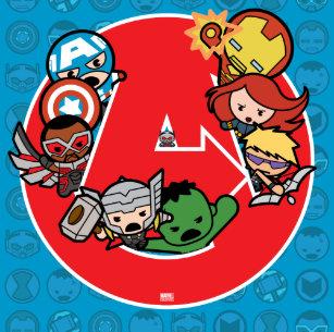 a2591f76f Kawaii Avengers Inside A-Logo Canvas Print