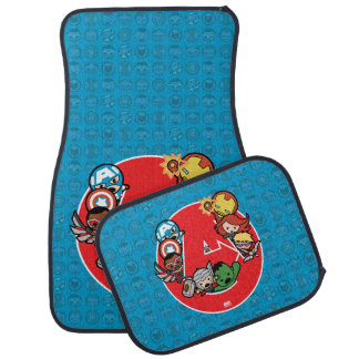 Kawaii Avengers Inside A-Logo Car Mat