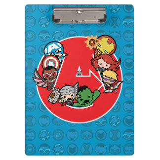 Kawaii Avengers Inside A-Logo Clipboard