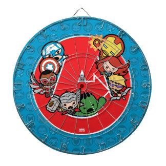Kawaii Avengers Inside A-Logo Dartboard