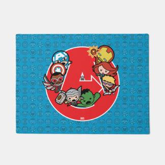 Kawaii Avengers Inside A-Logo Doormat