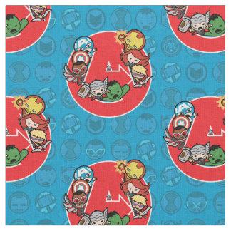 Kawaii Avengers Inside A-Logo Fabric
