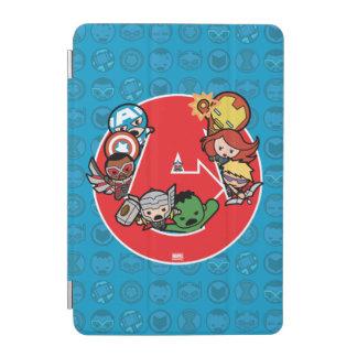 Kawaii Avengers Inside A-Logo iPad Mini Cover
