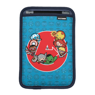 Kawaii Avengers Inside A-Logo iPad Mini Sleeve