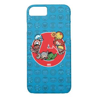 Kawaii Avengers Inside A-Logo iPhone 8/7 Case
