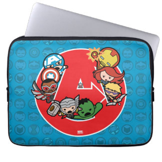 Kawaii Avengers Inside A-Logo Laptop Sleeve