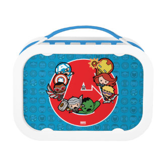 Kawaii Avengers Inside A-Logo Lunch Box