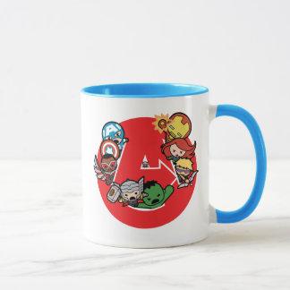 Kawaii Avengers Inside A-Logo Mug