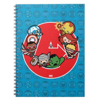 Kawaii Avengers Inside A-Logo Notebook