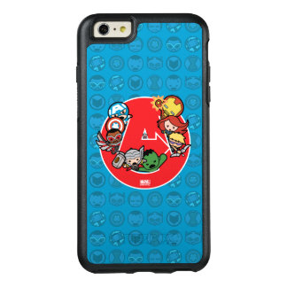 Kawaii Avengers Inside A-Logo OtterBox iPhone 6/6s Plus Case