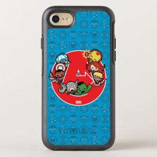 Kawaii Avengers Inside A-Logo OtterBox Symmetry iPhone 8/7 Case