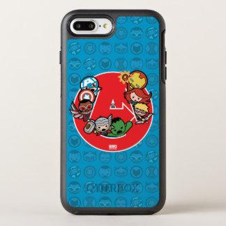 Kawaii Avengers Inside A-Logo OtterBox Symmetry iPhone 8 Plus/7 Plus Case