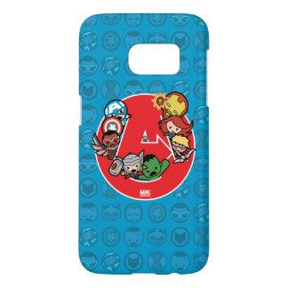Kawaii Avengers Inside A-Logo Samsung Galaxy S7 Case