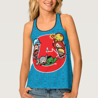 Kawaii Avengers Inside A-Logo Tank Top