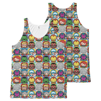 Kawaii Avengers Vs Ultron Pattern All-Over-Print Tank Top
