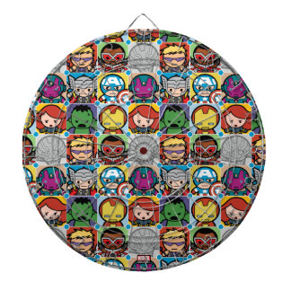 Kawaii Avengers Vs Ultron Pattern Dartboard