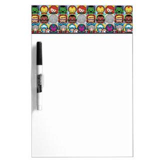 Kawaii Avengers Vs Ultron Pattern Dry Erase Board