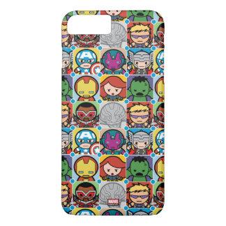 Kawaii Avengers Vs Ultron Pattern iPhone 8 Plus/7 Plus Case