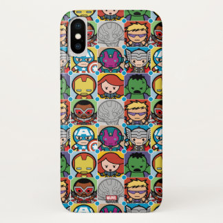 Kawaii Avengers Vs Ultron Pattern iPhone X Case