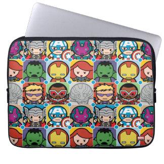 Kawaii Avengers Vs Ultron Pattern Laptop Sleeve