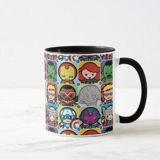 Kawaii Avengers Vs Ultron Pattern Mug