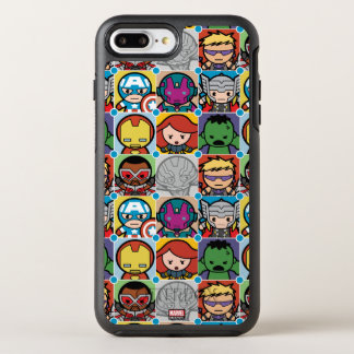 Kawaii Avengers Vs Ultron Pattern OtterBox Symmetry iPhone 8 Plus/7 Plus Case