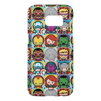 Kawaii Avengers Vs Ultron Pattern Samsung Galaxy S7 Case