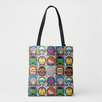 Kawaii Avengers Vs Ultron Pattern Tote Bag