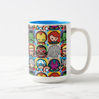 Kawaii Avengers Vs Ultron Pattern Two-Tone Coffee Mug