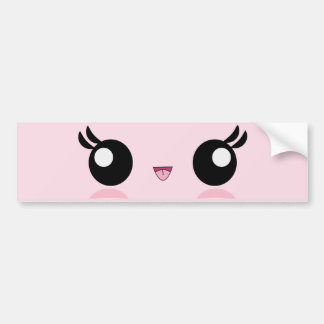 Kawaii Baby Face bumper sticker