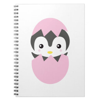 Kawaii baby penguin hatching notebook