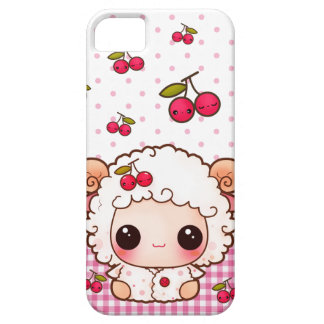Kawaii baby sheep and cute cherries case for the iPhone 5
