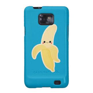 Kawaii Banana on Blue Samsung Galaxy SII Case