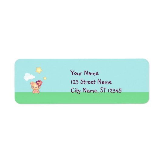 Kawaii Bear Return Address Label
