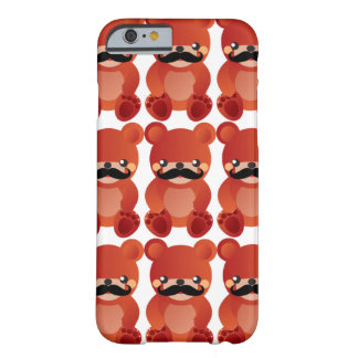 Kawaii Bear with Mustache Humor iPhone 6 case Barely There iPhone 6 Case