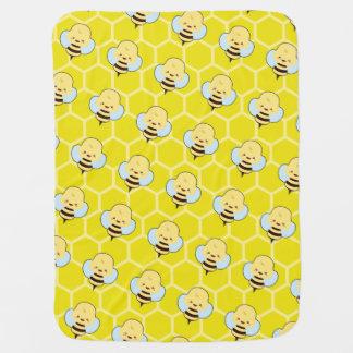 Kawaii Bee Baby Blankets