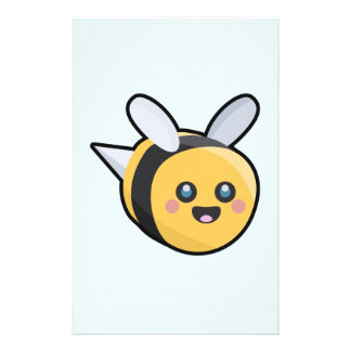 Kawaii Bee Personalized Stationery