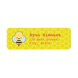 Kawaii Bee Return Address Label