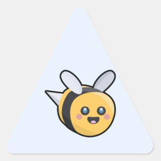 Kawaii Bee Triangle Sticker