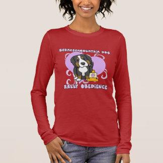 Kawaii Bernese Mountain Dog Rally Obedience Long Sleeve T-Shirt