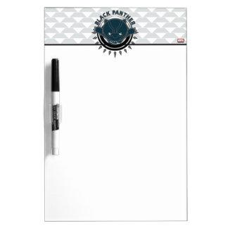 Kawaii Black Panther Logo Dry Erase Board