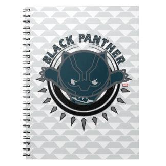 Kawaii Black Panther Logo Notebook