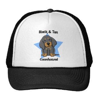 Kawaii Black & Tan Coonhound Mesh Hats