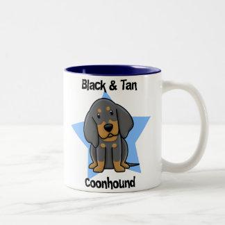 Kawaii Black & Tan Coonhound Mugs