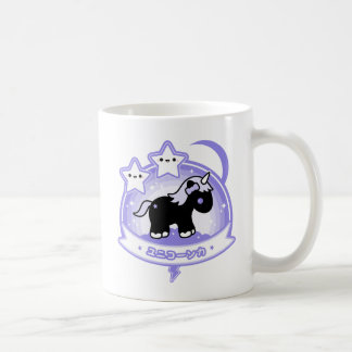 Kawaii Black Unicorn Coffee Mug