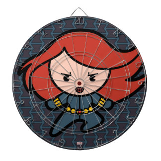 Kawaii Black Widow Dash Dartboard