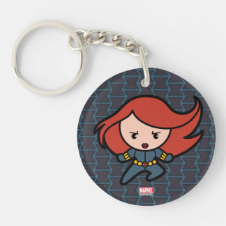 Kawaii Black Widow Dash Keychain